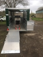 Wheelchair ramp on a GP trailer